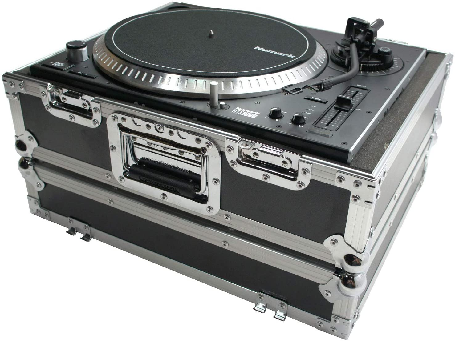 Harmony HC1200E Flight Foam Turntable Custom Case Compatible with Audio Technica AT-LP120
