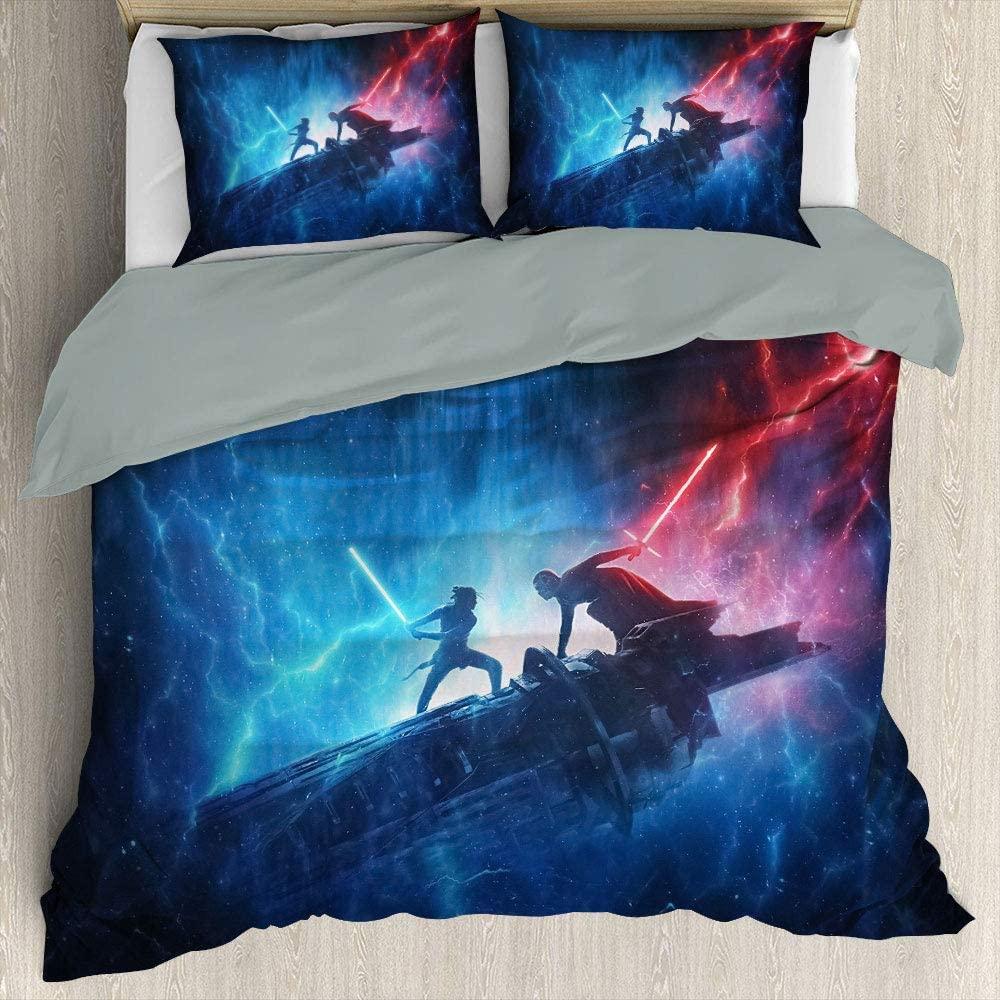 Star Wars Black Series Three Piece Duvet Cover Set Comforter Bedding Set Duvet Cover Kids (Au Sing 140Cmx210Cm)