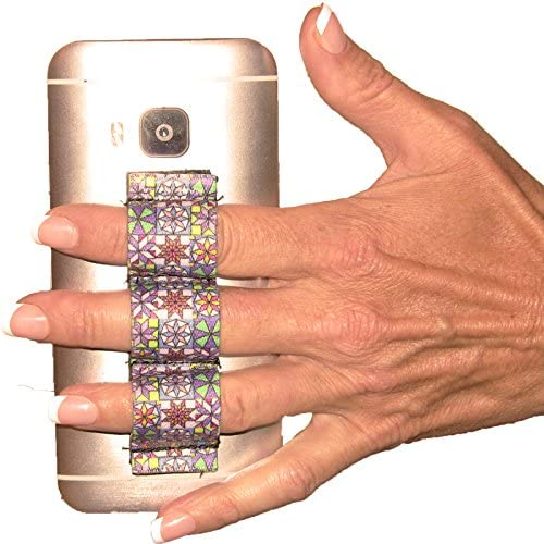 LAZY-HANDS 3-Loop Phone Grip - FITS Most - Quilter Design