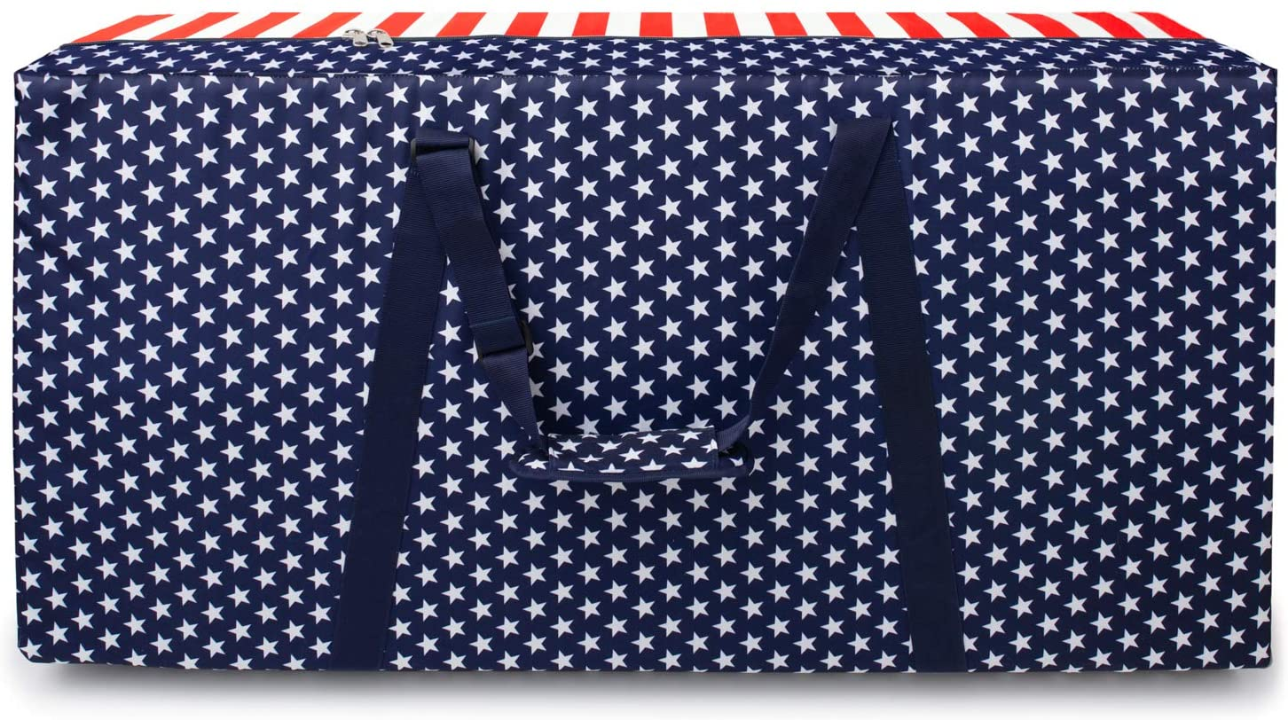 Cornhole Carrying Case Heavy Duty Cornhole Board Bags Regulation Size Patriotic Cornhole Storage Carrying Bag Case Protective Covers Adjustable Padded Shoulder Strap For Cornhole Bags Game 4'x2'