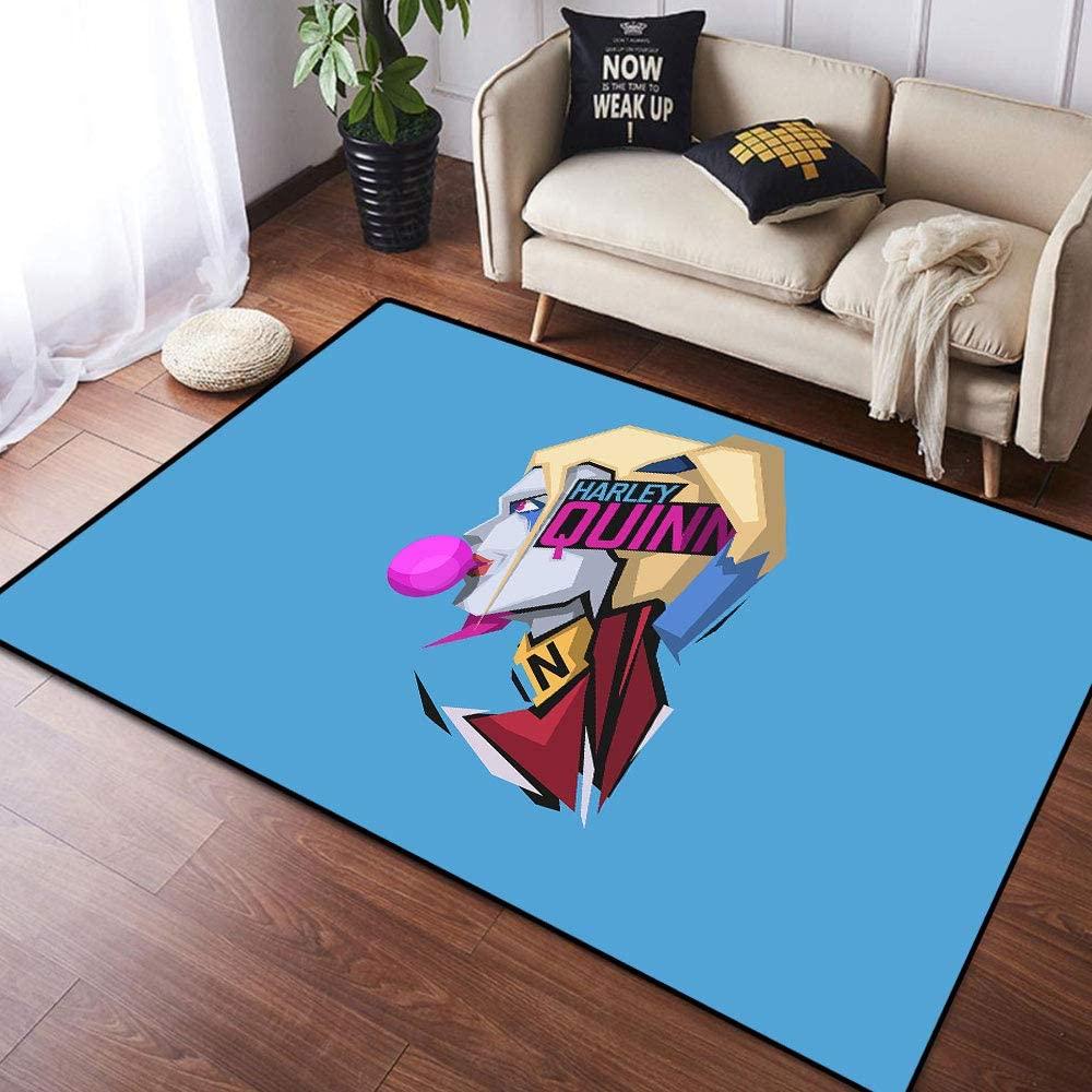 Coobal Harley Quinn Home Decoration Large Rug Floor Carpet Yoga Mat, Kids Rug for Children Kid Playroom Bedroom 6x9 Foot(182cmx274cm)