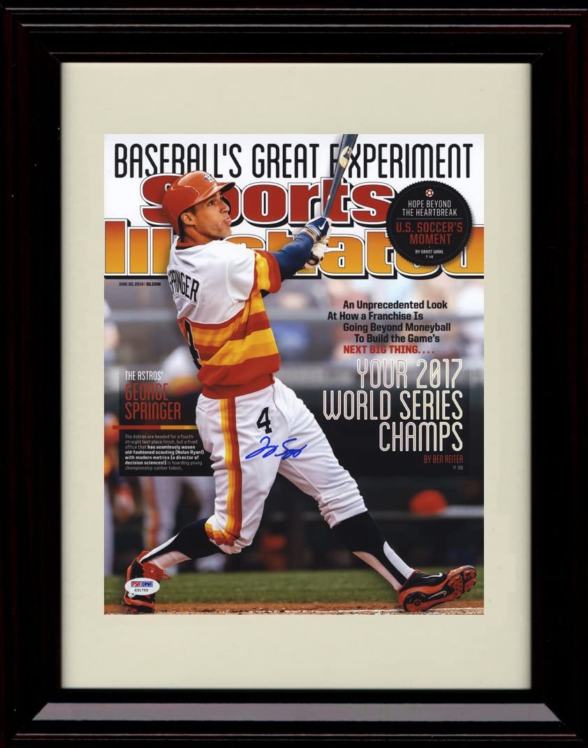Framed George Springer Sports Illustrated Autograph Replica Print