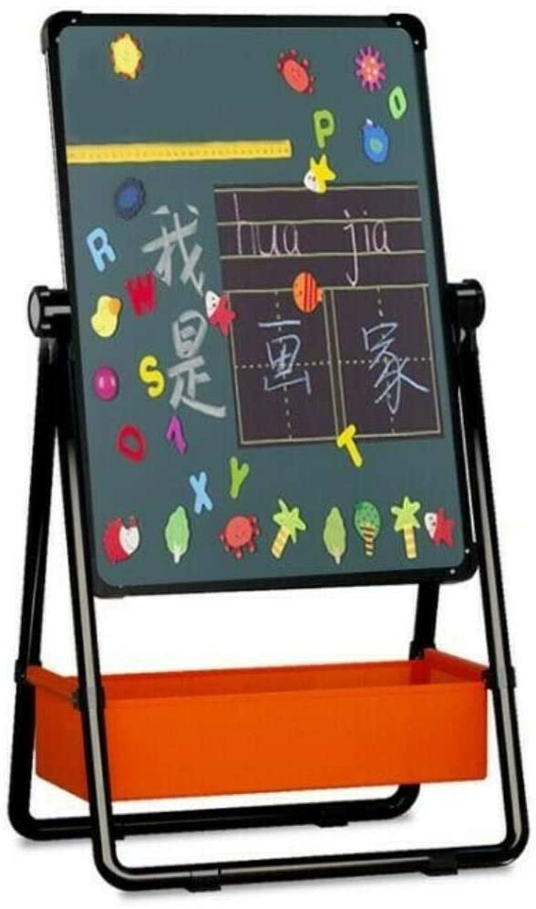 Drummond Kids Easel, Adjustable Art Easel Whiteboard&Chalkboard Double Sided Stand for Kids(Black)