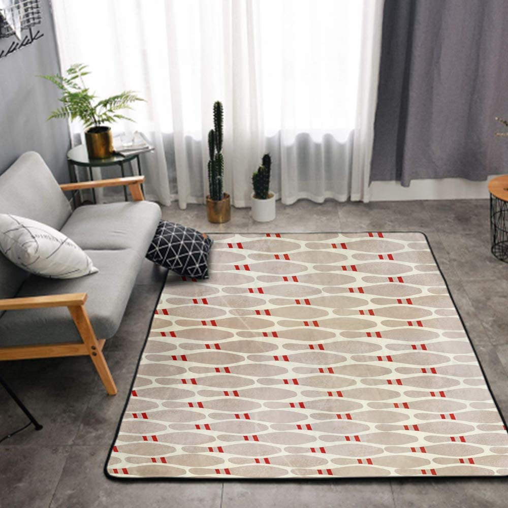 NiYoung Luxury Area Rug Modern Indoor Non-Slip Rugs, Extra Soft and Comfy Memory Foam Bowling Pins Flannel Carpet for Bedroom Living Room Bathroom Girls Kids Nursery