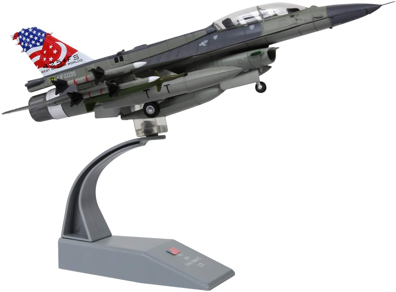 HANGHANG 1/72 Scale F-16D Fighter Attack Plane Metal Fighter Military Model Fairchild Republic Diecast Plane Model for Commemorate Collection