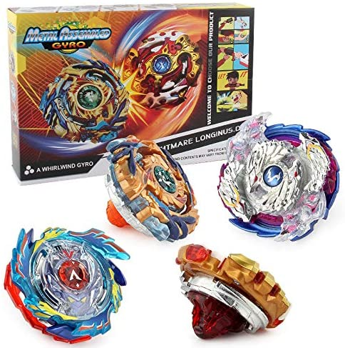 Bey Spinning Burst Battle Avatar Attack Battle with Two String Launcher and Grip Gyro Starter Set