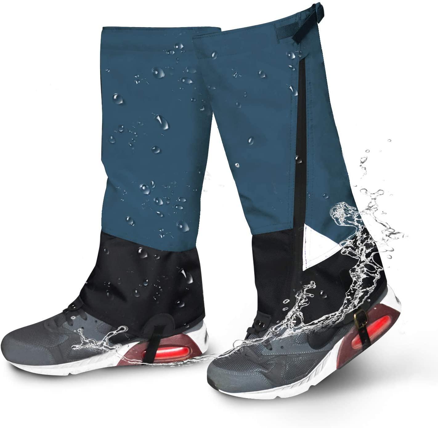 Leg Gaiters Waterproof Snow Boot Gaiters 900D Anti-Tear Adjustable Shoes Gaiters High Leg Cover for Men Women Outdoor Hiking Walking Hunting Skiing Snowshoeing Camping Climbing
