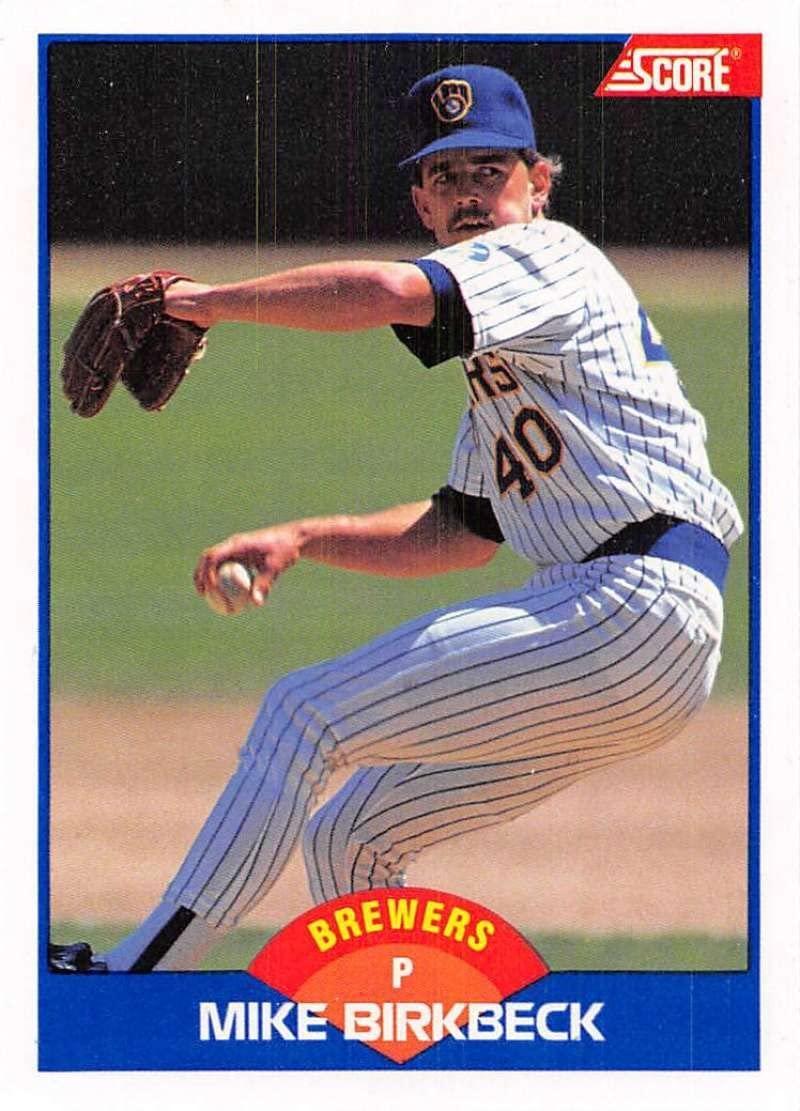 1989 Score #596 Mike Birkbeck Milwaukee Brewers