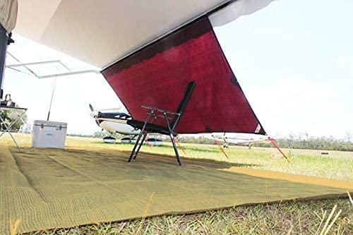 Outdoor 6 ft. x 16 ft. Polyethylene Woven Carpet