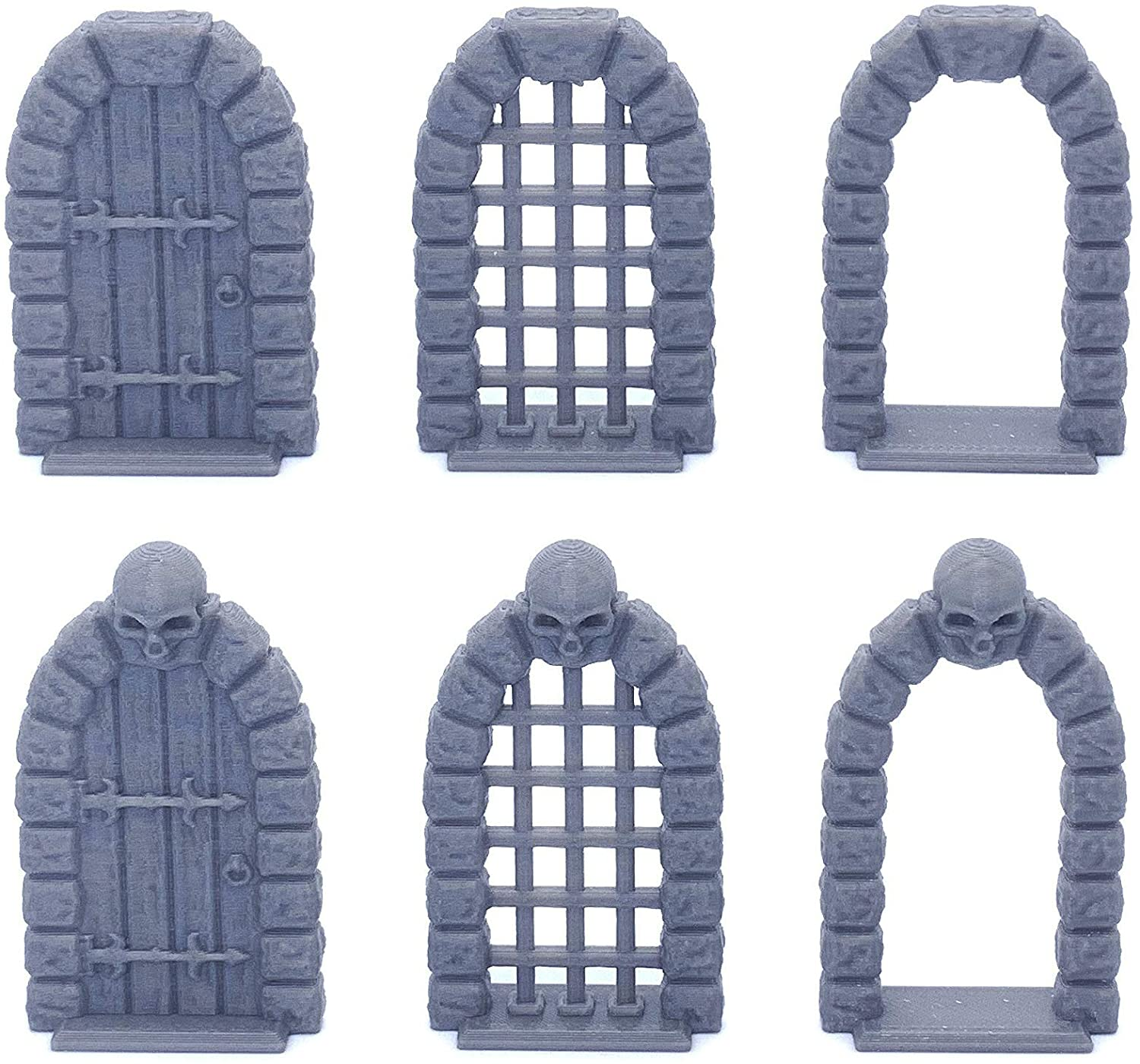 Retro Dungeon Doors, 3D Printed Tabletop RPG Scenery and Wargame Terrain for 28mm Miniatures