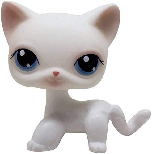 N/N Littlest Pet Shop, LPS Toy Rare Pink White Short Hair Cat Kitty Blue Eyes