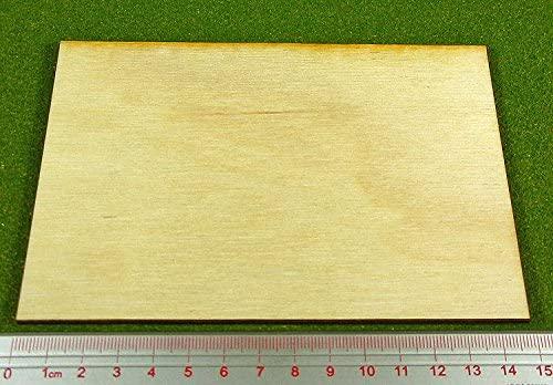 LITKO Rectangular Miniature Bases: 100x150mm Monster Base, 3mm Plywood (1)