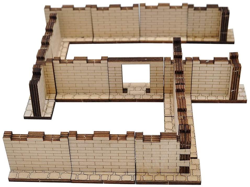 D&D Dungeon Brick Walls (Set of 16) Wood Laser Cut 2