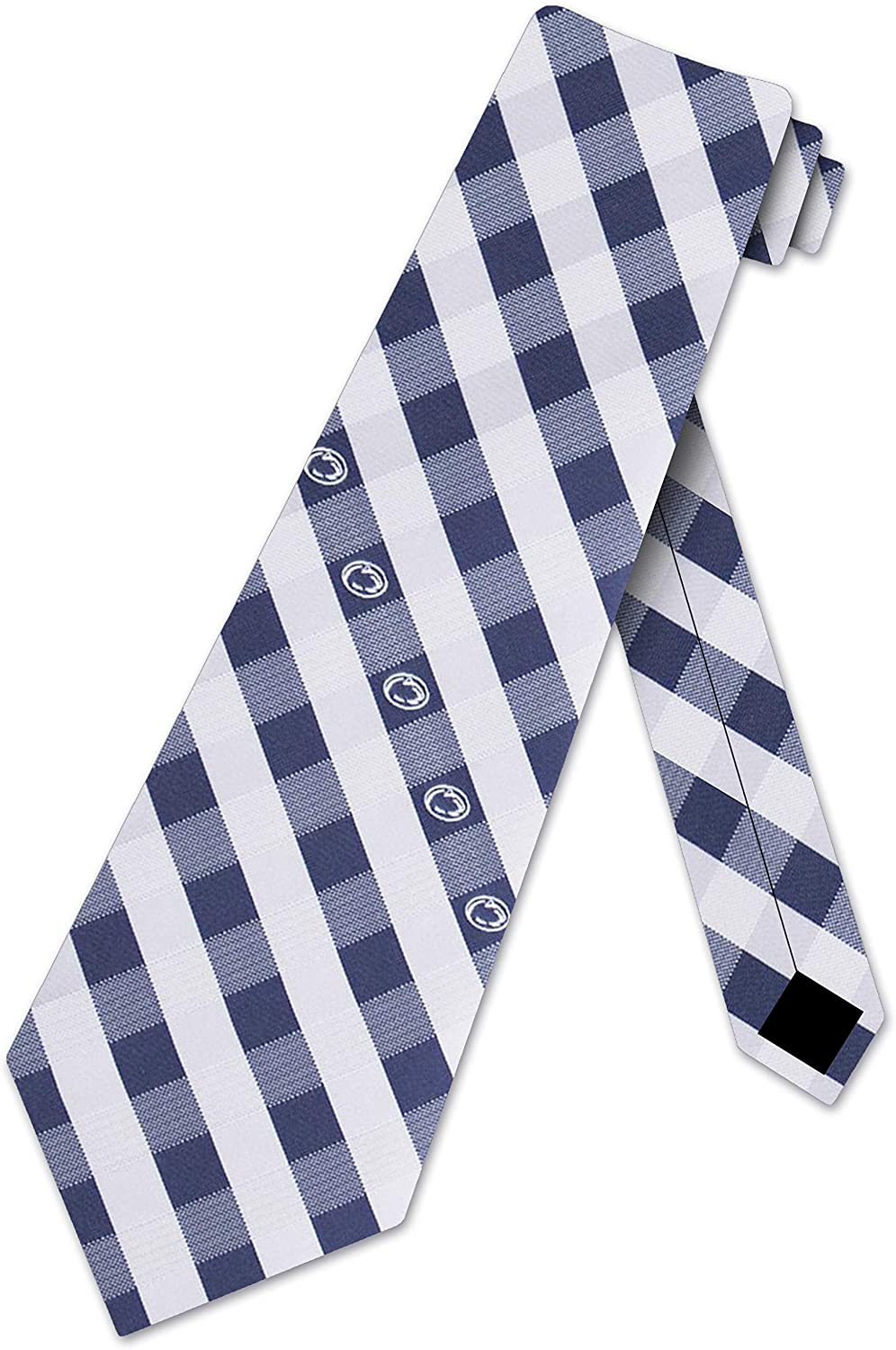 Penn State Nittany Lions NCAA College Check Poly Necktie Men's Sports Accessory Tie