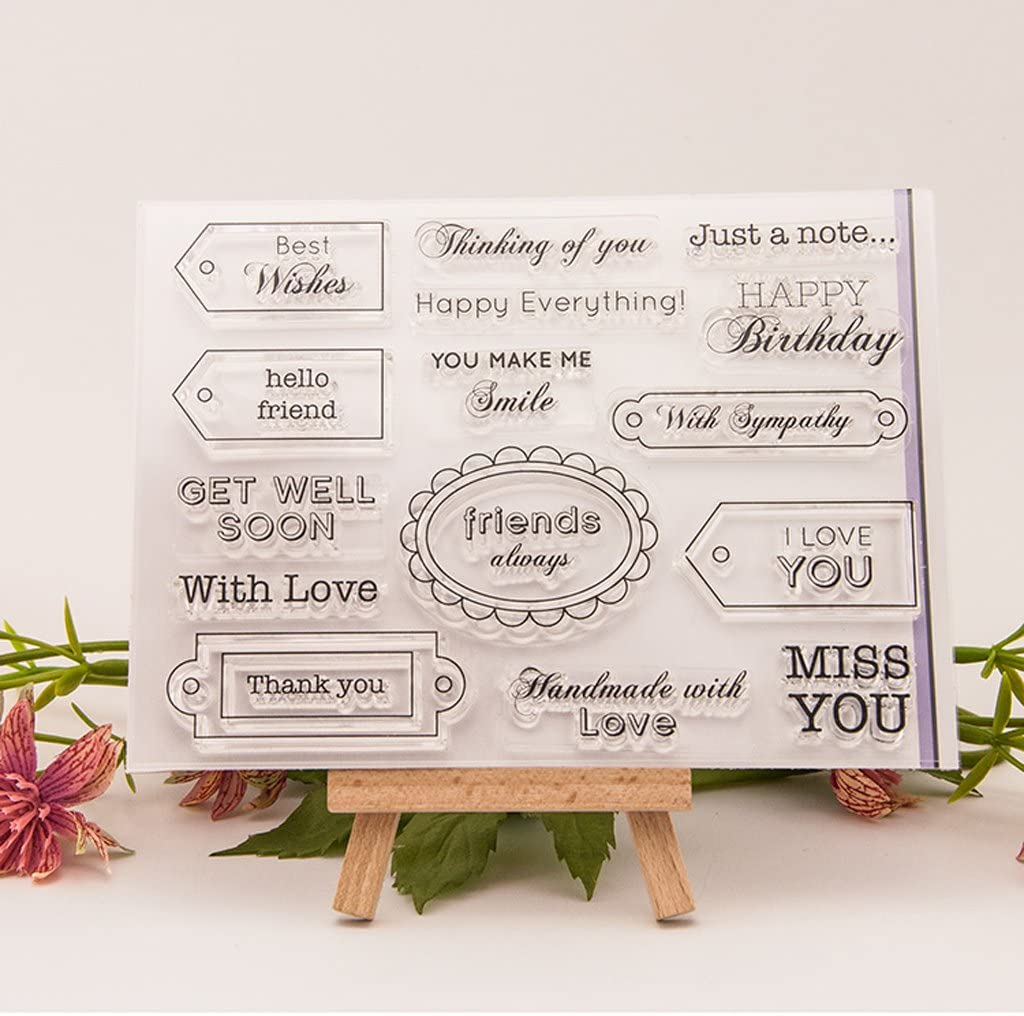 Junlinto Friends Transparent Silicone Clear Rubber Stamp Cling Diary Scrapbooking DIY Art