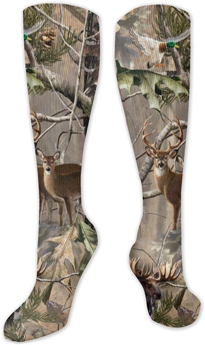 Women Men Long Socks High Ankle Tube Socks Athletic Cushioned Long Socks