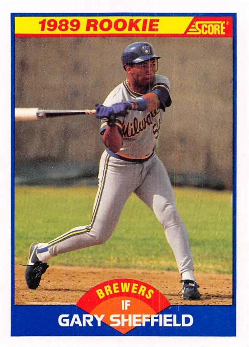 1989 Score #625 Gary Sheffield Milwaukee Brewers