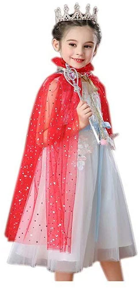 DDWW Princess Cape Cloaks Costume for Girls Princess Costumes Party Accessories