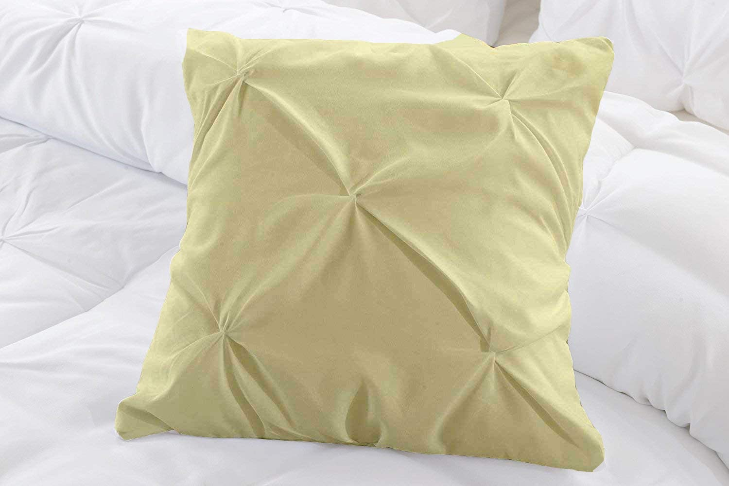 SHEETEX Present Set of 2 Piece Pinch Plated Pillow Shams with Back Over Lapping 1000 Thread Count, Luxurious & Hypoallergenic Decorative Euro/European Size 26