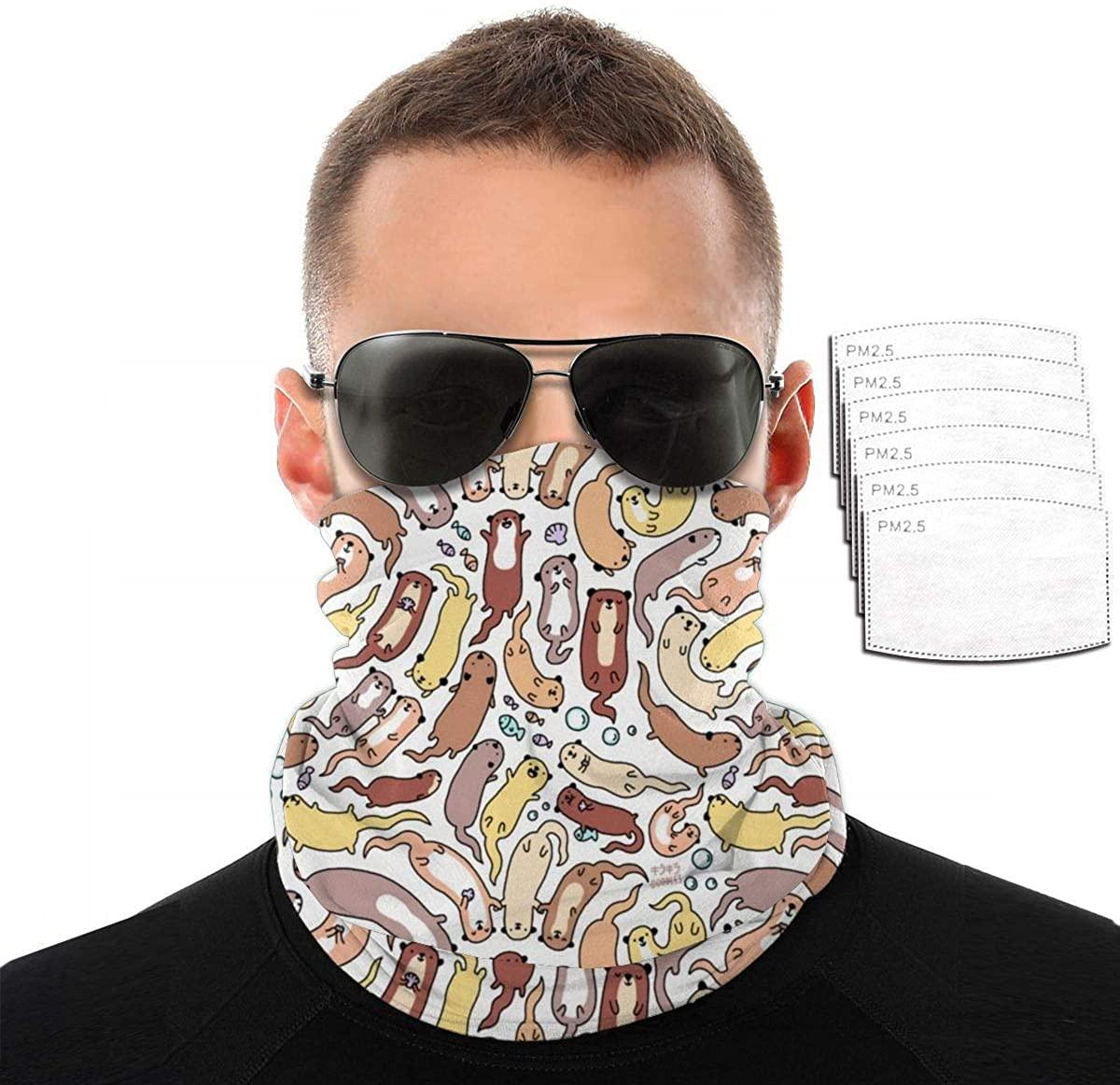 Women Men Outdoor Magic Scarf Seamless Bandana Stretchable Headwear