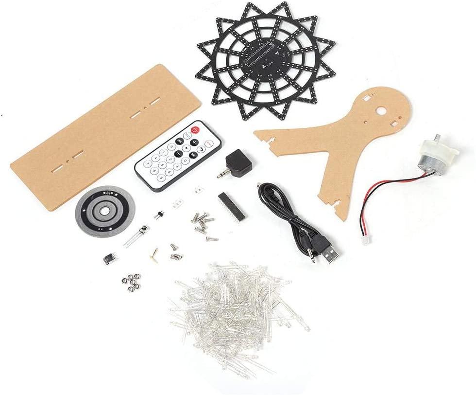 Sanpyl DIY Ferris Wheel, Electronic Colorful LED Flash Ferris Wheel DIY Kit Idea Gift for Kids