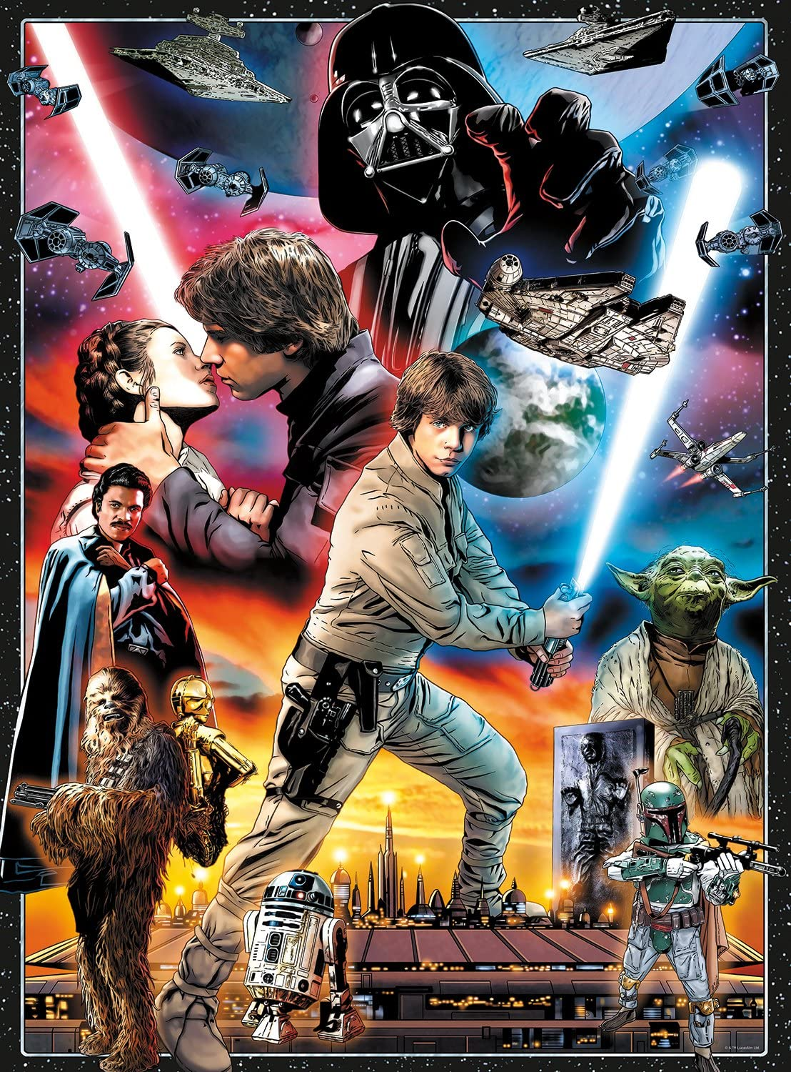Buffalo Games Star Wars Vintage Art: You'll Find I'm Full of Surprises - 1000 Piece Jigsaw Puzzle