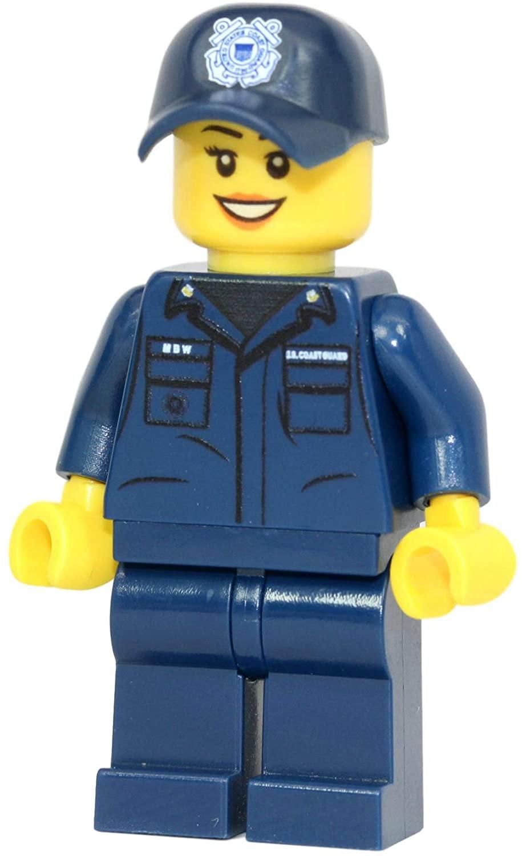 Modern Brick Warfare US Coast Guard Female Custom Minifigure