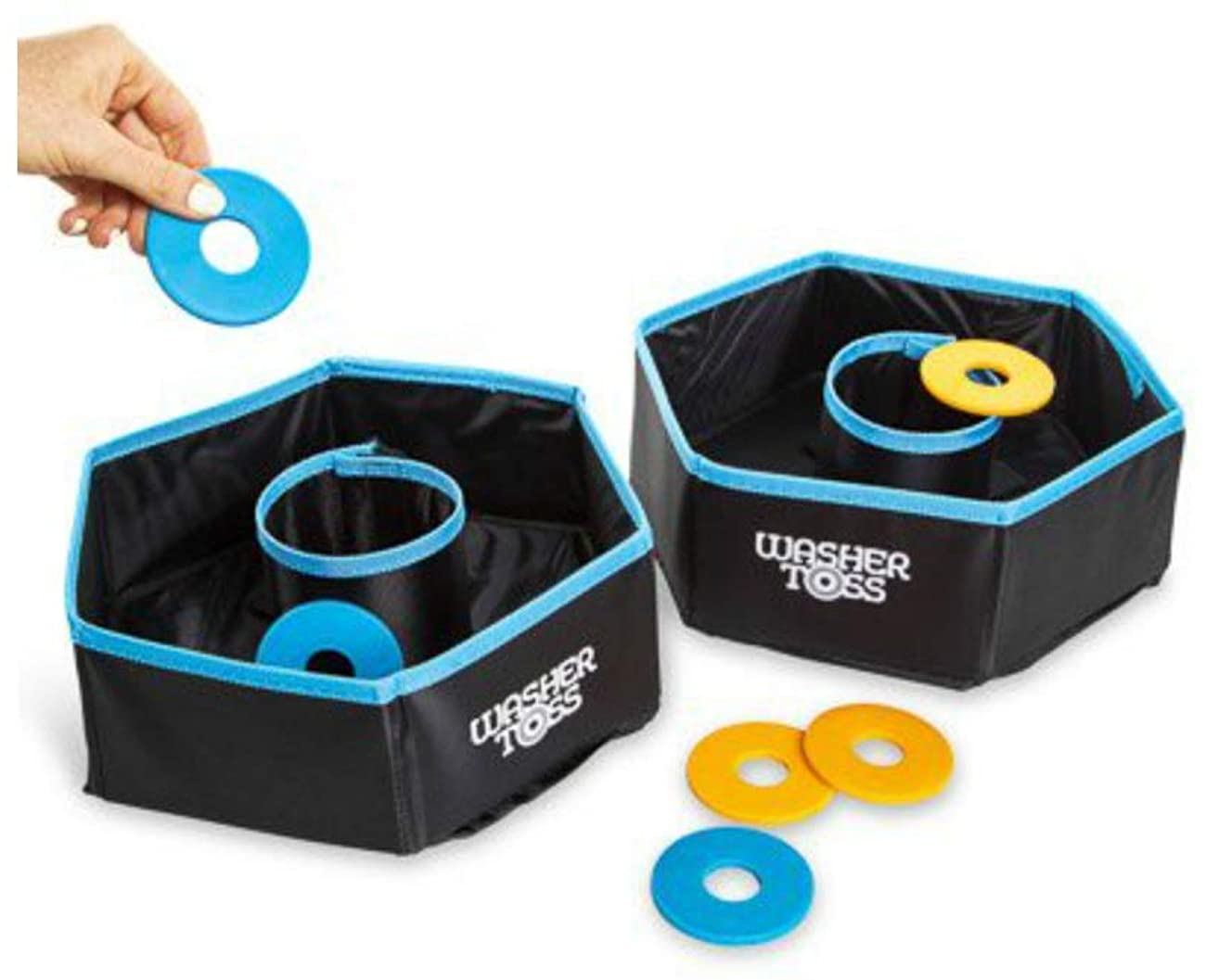 Washer Throw Game Cornhole Board Game Ring Toss Traveling Game Picnic Summer Beach Tailgate Family Kids Game