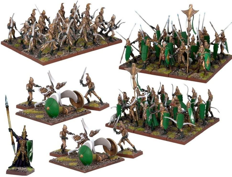 Mantic Games MGKWE110 Elf Army Play Set, Multi-Colour