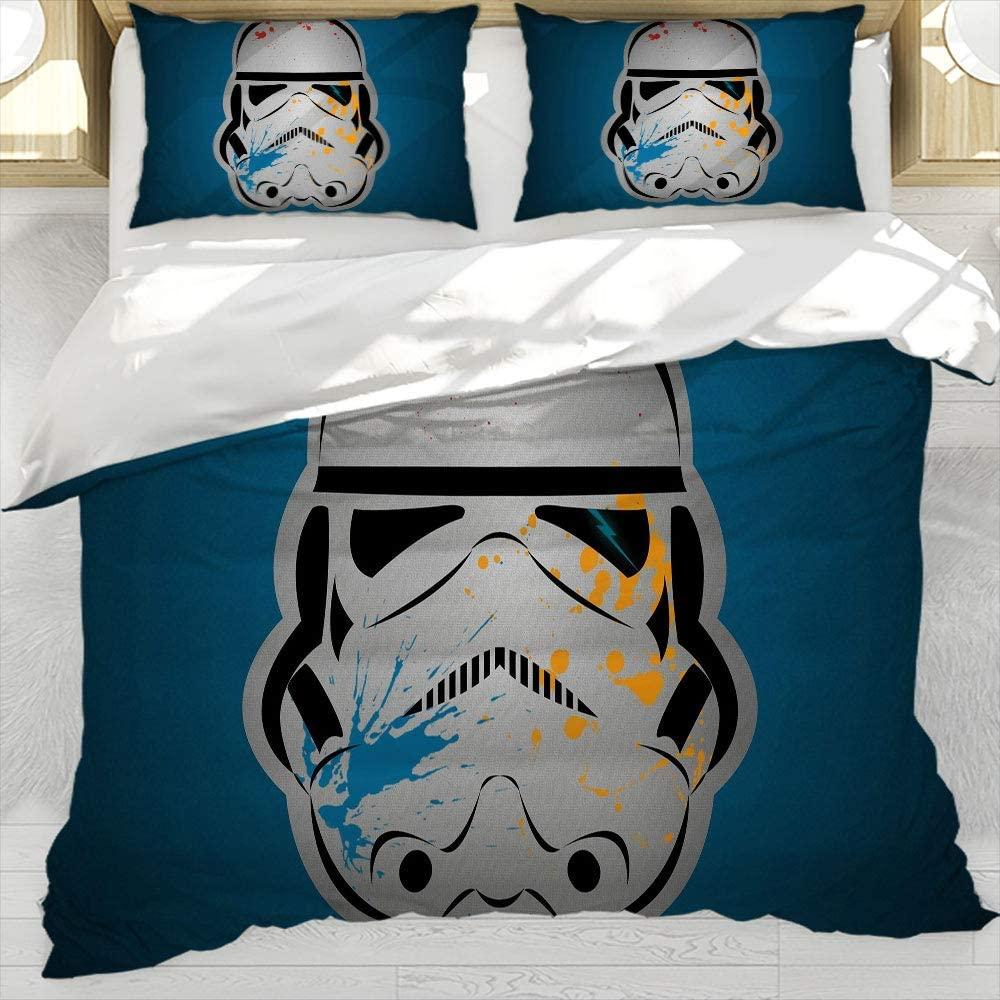 Star Wars Black Series Three Piece Duvet Cover Set Bedding Set Full Printed Bedding Sets, Twin Size