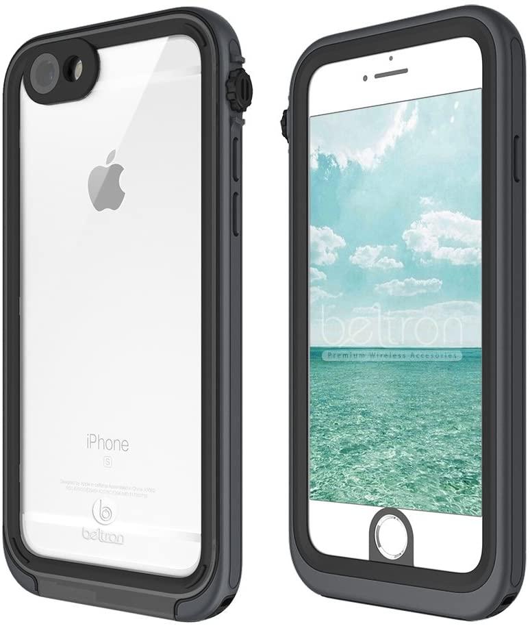 BELTRON aquaLife iPhone 6/6S PLUS Waterproof, Shock & Drop Proof, Dirt Proof, Heavy Duty Underwater Diving Case (IP68 Rated MIL-STD-810G Certified) Features: 360° Watertight Sealed Design (Grey/Black)