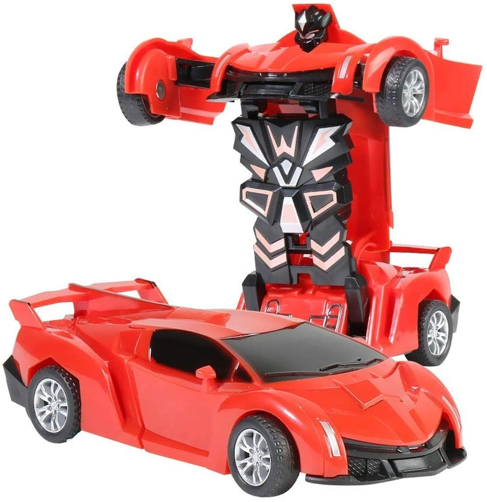 NCTO Transformation Car, Transform Car Robot are Easy to Operate can One Button Deformation, Robot Car Toy 2 in 1 Deformation Car for Kids Boys Playing Christmas Birthday Gifts, 5