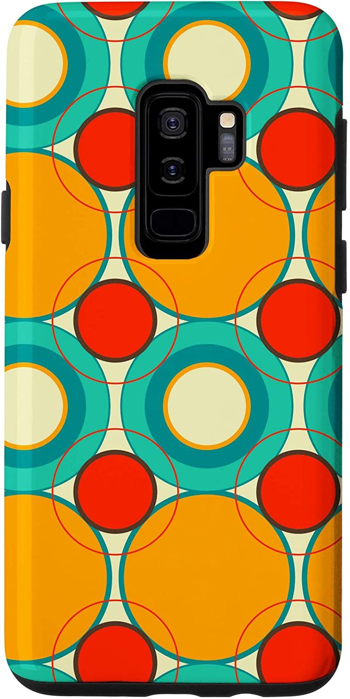 Galaxy S9+ Modern Retro Colorful Circle Pattern Gift Case