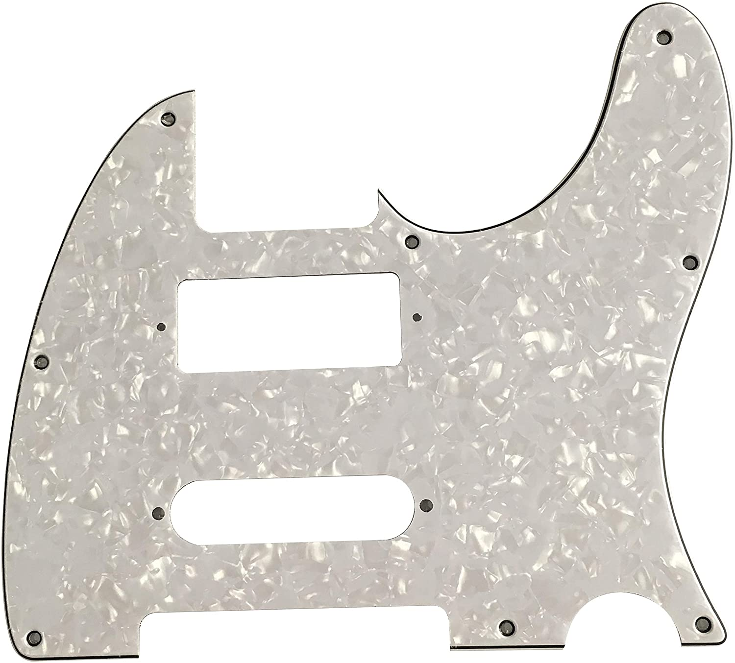 For Fender Telecaster Brent Mason Style Guitar Pickguard, (4 Ply White Pearl)