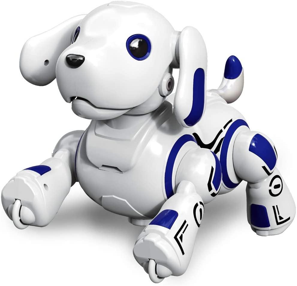 Hi-Tech Wireless Remote Controlled Robot Dog Interactive Robot Puppy for Kids, Children, Girls, Boys (Blue)