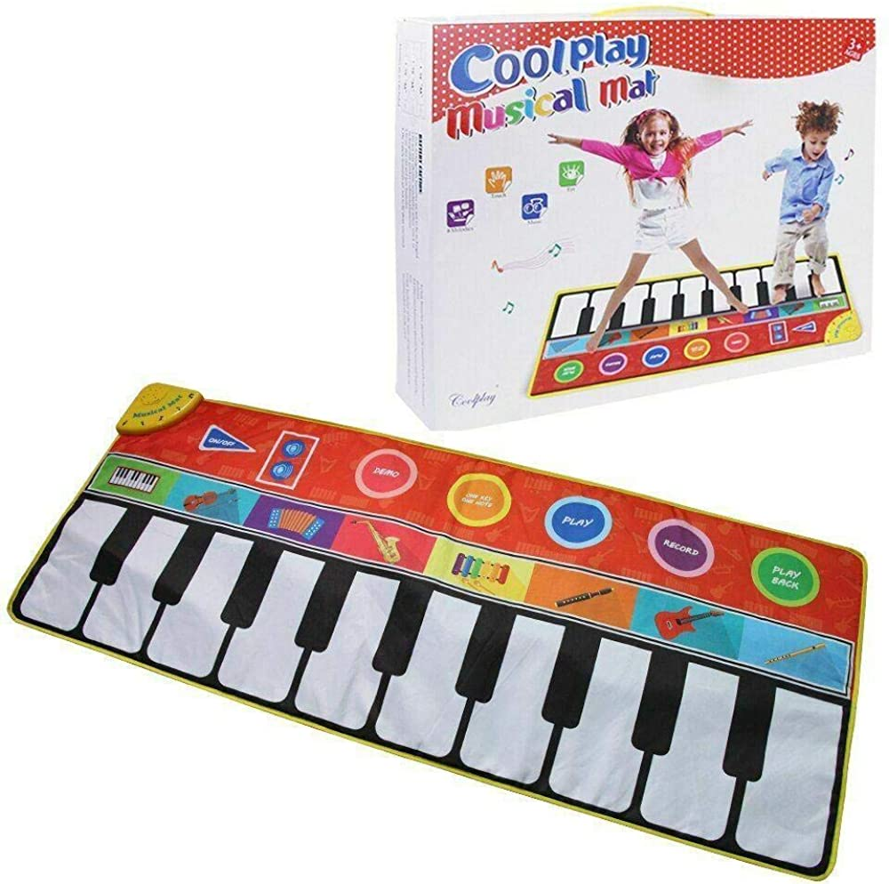 Piano Music Mat, Educational Music Keyboard Play Mat Piano Musical Baby Gym Fitness Fun Toys