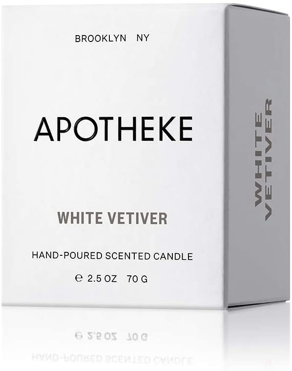 APOTHEKE White Vetiver Votive Candle 2.5 oz, 2 Pack