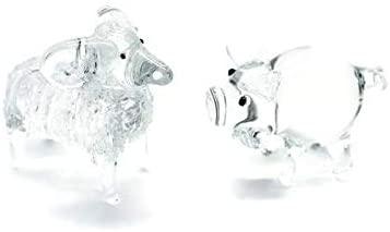 3 D Crystal Toy Lucky Money Hand Bowl Glass Dollhouse Miniatures Decoration