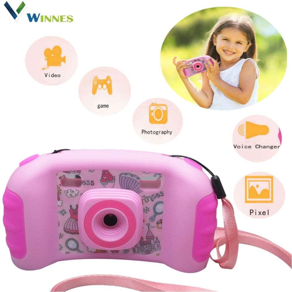 Winnes Kids Camera, Kids Toy Camera for Girls Boys Game Camera,1.77