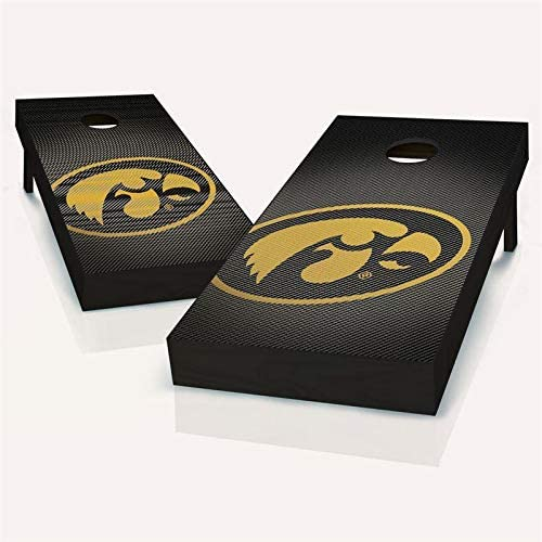 Tailgate Pro's Iowa Hawkeyes Slanted Cornhole Boards, Choose Your Options - Includes 2 Boards and 8 Team Logo Bags