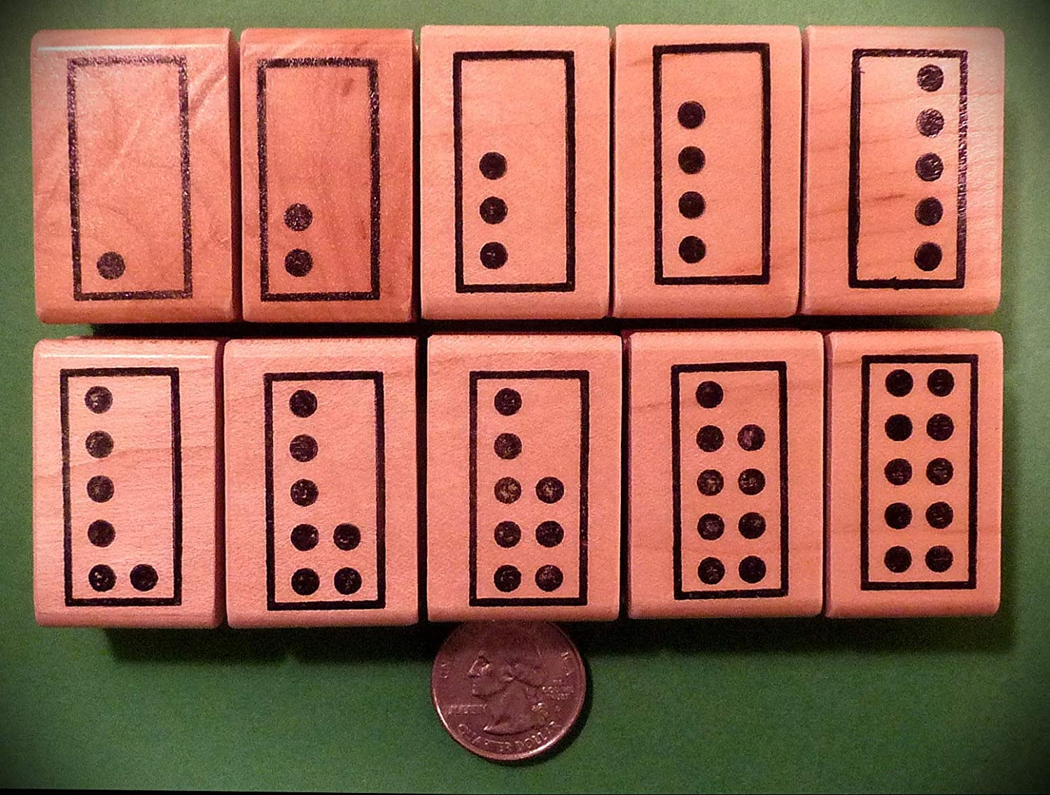 Rubber Stamps Singapore Math Number Tiles, Teachers Set of 10 Stamp for Teaching Card Making, DIY Crafts, Scrapbooking