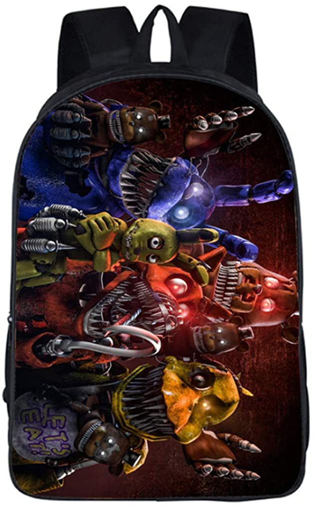 Five Nights at Freddy's Cartoon School Backpack Kids Bookbag