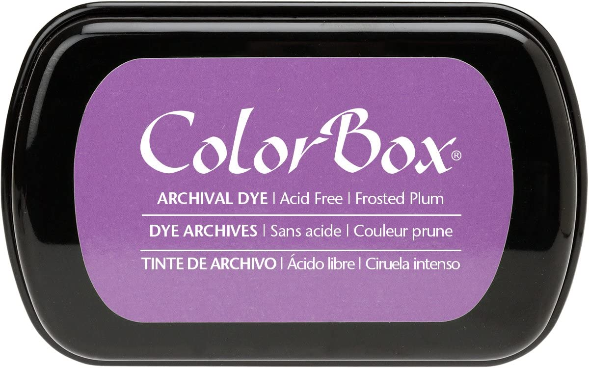 ColorBox Archival Dye Ink Full Size Inkpad, Frosted Plum