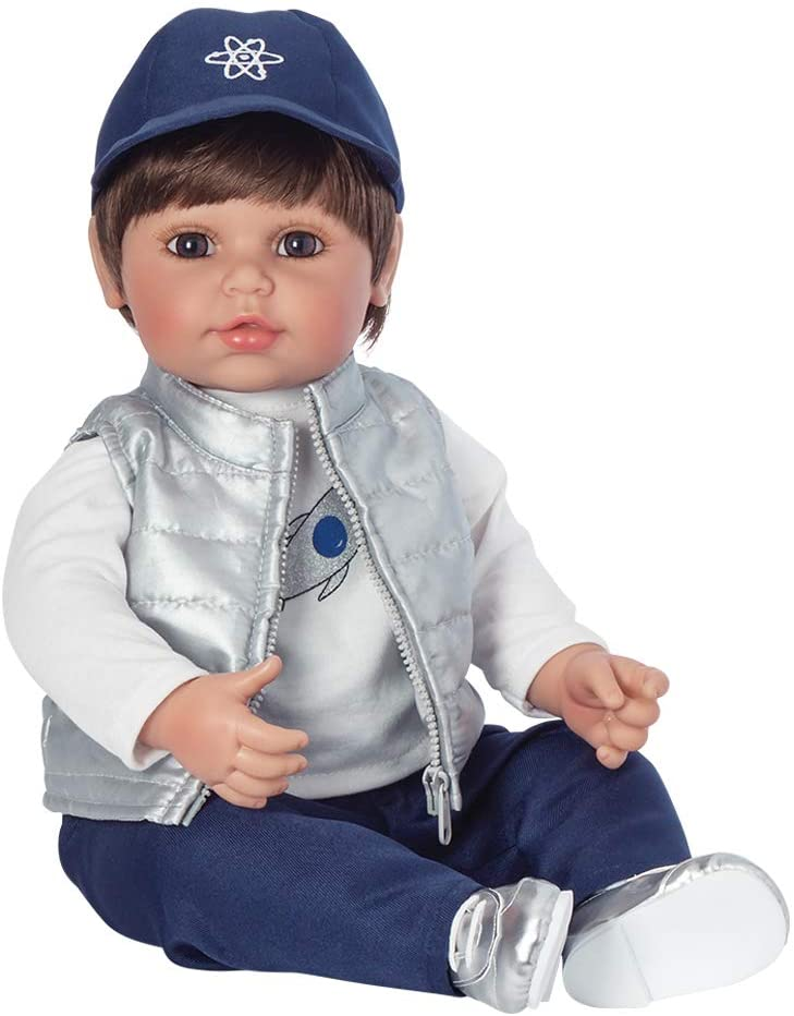 Adora Toddler Doll Cosmic Boy Doll with Space Themed Outfit, Baseball Cap and Silver Puffy Vest