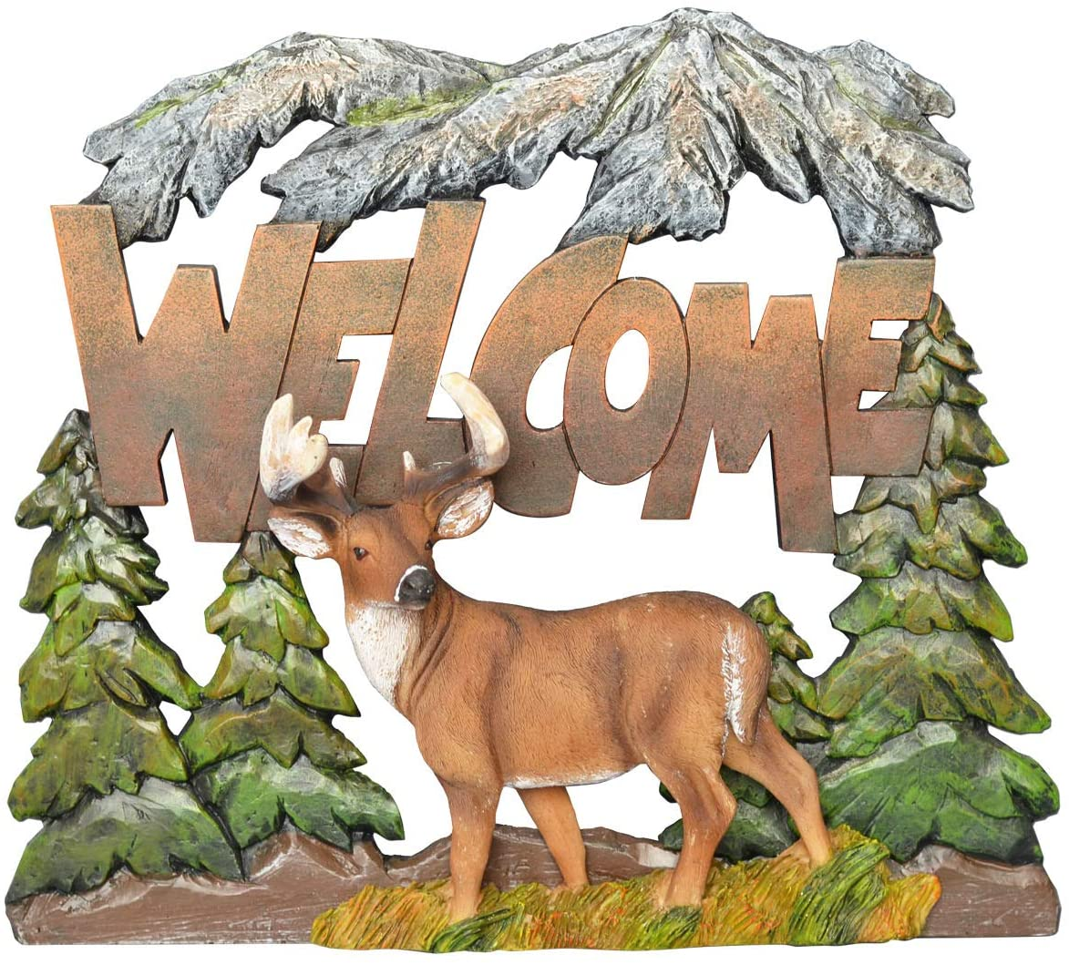 Pine Ridge Deer Welcome Wall Art