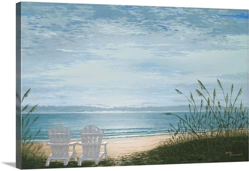 Beach Chairs Canvas Wall Art Print, 24x16x1.25
