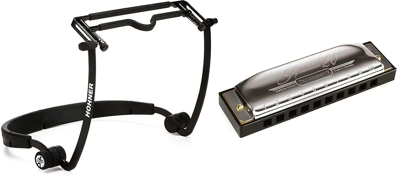 Hohner FlexRack Harmonica Holder + Hohner Special 20 Harmonica - Key of E Value Bundle