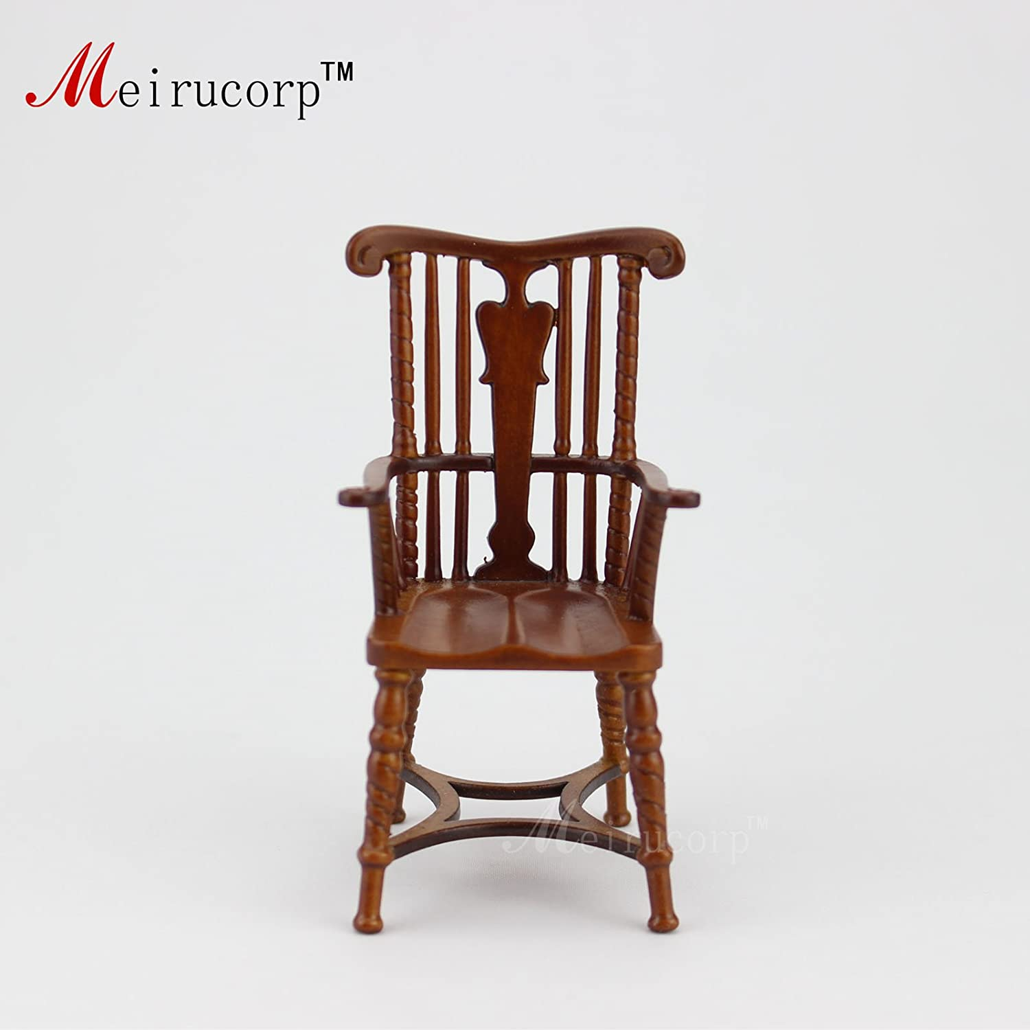 Meirucorp Dollhouse 1:12 Scale Miniature Furniture Wood Armchair 10322