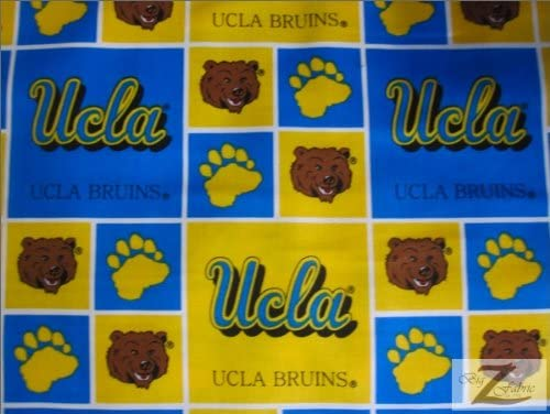 NCAA College Print Cotton Fabric - UCLA Bruins - 45