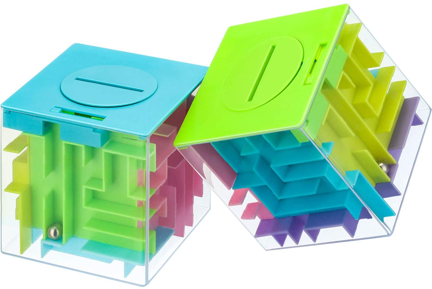 2 Pieces Money Maze Puzzle Box Puzzle Money Holder Box, Fun Brain Teasers for Kids and Adults Unique Way to Give Birthday or Christmas Supplies